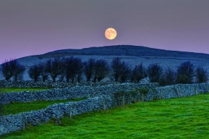 The Burren Full Moon. Photograph by Carsten Krieger.