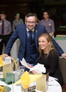 Eoin Neylon and Deirdre Barry at the Clare Fianna Fáil event. Photograph by John Kelly.