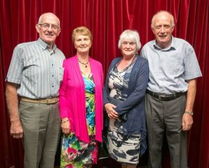 Denis and Mary Collins, Feakle, with Betty and Eamon Whelan, Woodford, during the Dancing for Pleasure  30th anniversary at the Auburn Lodge Hotel. Photograph by Arthur Ellis.