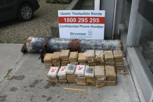 Part of the cocaine haul at Liscannnor. Photograph by the Revenue Customs