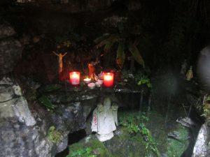 The shrine at St Enda's Well on top of Slieve Elva.