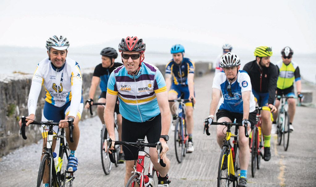 The cycle started from the pier at Ballyvaughan and ended with breakfast at Monks.
