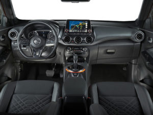 The Juke gets a high quality interior and a large touch screen mounted in the driver's eyeline.
